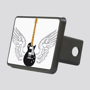 e-guitar player wings Rectangular Hitch Cover